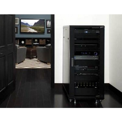 "Audio Video Rack Cabinet 19"" 15U 600x600 Black - Techly Professional - I-CASE AV-2115BKTY-5"