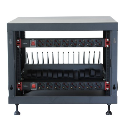 Professional Charging Cabinet for 14 Notebook, Tablets and Smartphones - Techly Professional - I-CABINET-14DTY-9