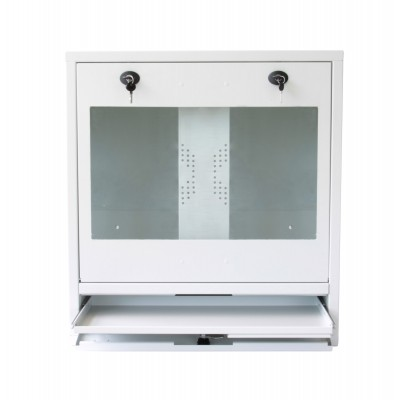 PC, LCD monitor and keyboard safety cabinet, White  - Techly Professional - ICRLIM10W-5