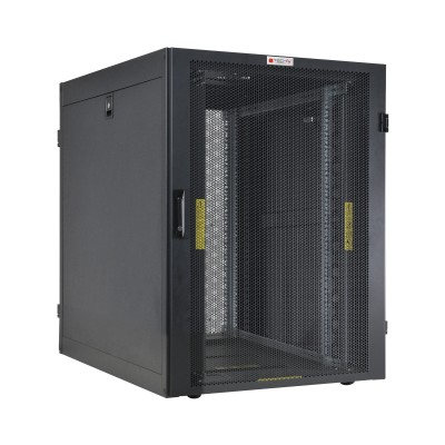 """NetRack Cabinet 19"""" 600x1000 24 Units Vented ports Black in Flat Pack  - Techly Professional - I-CASE FP-24VTBK2-1"""