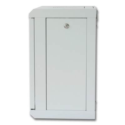"""Wall Rack Cabinet 10"""" 9 unit with removable panels Grey  - Techly Professional - I-CASE EM-1009GPTY-2"""