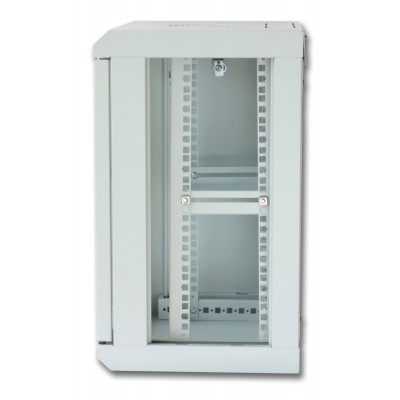 """Wall Rack Cabinet 10"""" 9 unit with removable panels Grey  - Techly Professional - I-CASE EM-1009GPTY-3"""