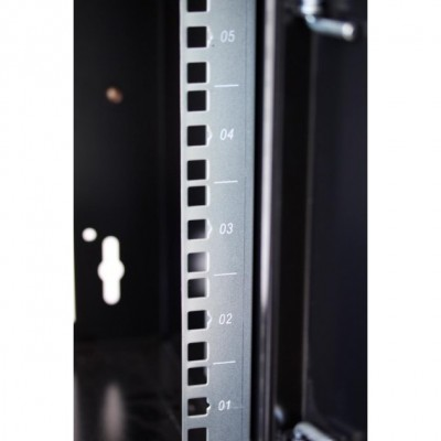 """Wall Rack Cabinet 10"""" 9 unit with removable panels Grey  - Techly Professional - I-CASE EM-1009GPTY-6"""