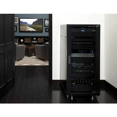 "Rack 19"" 600x600 15U Rack for Audio Video Black RECONDITIONED - Techly Professional - I-CASE AV-2115BKTYR-4"