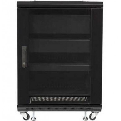 "Rack 19"" 600x600 15U Rack for Audio Video Black RECONDITIONED - Techly Professional - I-CASE AV-2115BKTYR-3"