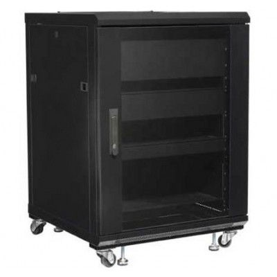"Rack 19"" 600x600 15U Rack for Audio Video Black RECONDITIONED - Techly Professional - I-CASE AV-2115BKTYR-0"