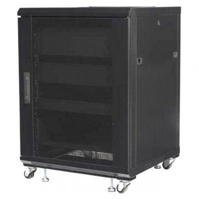 "Rack 19"" 600x600 15U Rack for Audio Video Black RECONDITIONED - Techly Professional - I-CASE AV-2115BKTYR-2"