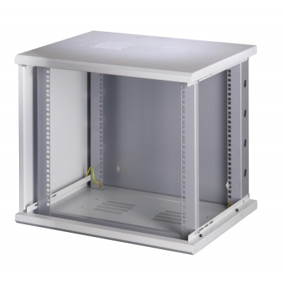 "19"" Rack cabinet, 10 units, single section, depth 500mm Gray - Techly Professional - I-CASE EW-2009G5-8"