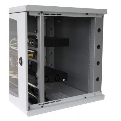 "19"" Rack cabinet, 10 units, single section, depth 500mm Black - Techly Professional - I-CASE EW-2009BK5-3"