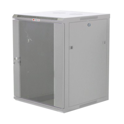 "Wall Rack Cabinet 19"" 12 units D600 to Assemble Grey - Techly Professional - I-CASE FP-3012GTY-1"