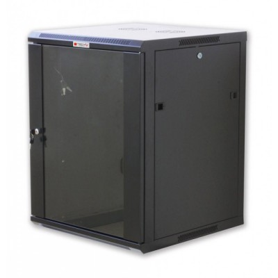 """Wall Rack Cabinet 19"""" 12 units D600 to Assemble Black - Techly Professional - I-CASE FP-3012BKTY-1"""