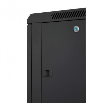 """Wall Rack Cabinet 19"""" 12 units D600 to Assemble Black - Techly Professional - I-CASE FP-3012BKTY-3"""