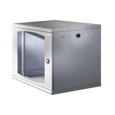 "19"" Rack cabinet, 13 units, single section, depth 500mm Gray - Techly Professional - I-CASE EW-2012G5-1"