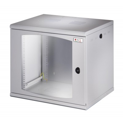 "19"" Rack cabinet, 13 units, single section, depth 500mm Gray - Techly Professional - I-CASE EW-2012G5-5"