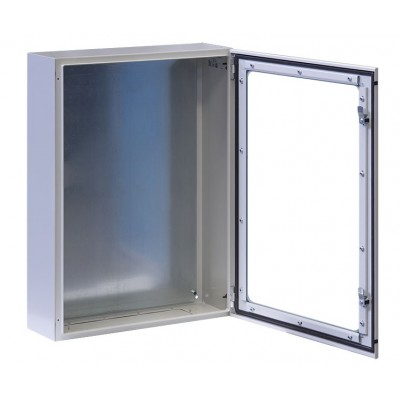 "Wall Rack Cabinet 19"" 17U IP65 with Glass Door Gray 200mm depth  - Techly Professional - I-CASE IP-1720GV-1"