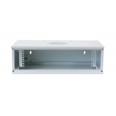 "Assembled 19"" Wall Rack Cabinet 3U prof. 320 Gray - Techly Professional - I-CASE EW-2003G5-3"
