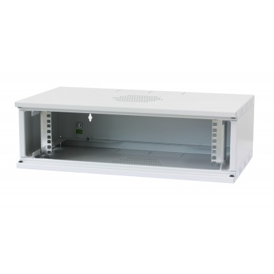 "Assembled 19"" Wall Rack Cabinet 3U prof. 320 Gray - Techly Professional - I-CASE EW-2003G5-2"