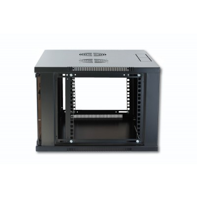 "19"" Wall Network Rack 9U Depth 450 Black Assembled - Techly Professional - I-CASE ER-1009B45-1"