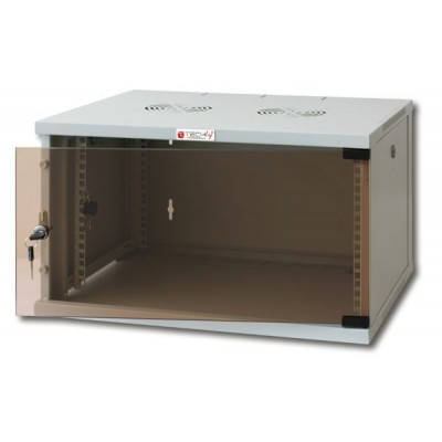 "19"" Wall Network Rack 6U Depth 600 Grey Assembled - Techly Professional - I-CASE ER-1006G60-1"