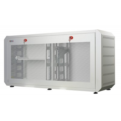 "19"" Ghost rack cabinet with White grilled door - Techly Professional - I-CASE EJ-2512WHV-1"