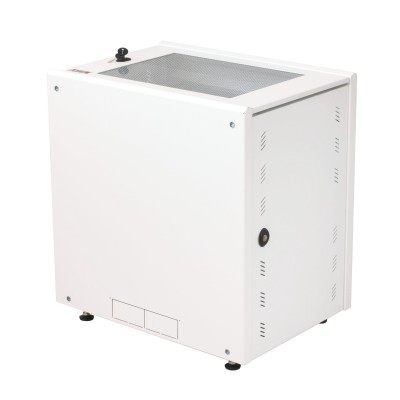 """19"""" Rack Cabinet Ideal for Photovoltaic Accumulators 8U P600mm White - Techly Professional - I-CASE EE-2008WH6-15"""