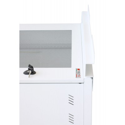 """19"""" Rack Cabinet Ideal for Photovoltaic Accumulators 8U P600mm White - Techly Professional - I-CASE EE-2008WH6-6"""