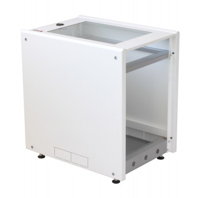 """19"""" Rack Cabinet Ideal for Photovoltaic Accumulators 8U P600mm White - Techly Professional - I-CASE EE-2008WH6-2"""