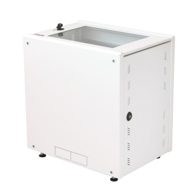 """19"""" Rack Cabinet Ideal for Photovoltaic Accumulators 8U P600mm White - Techly Professional - I-CASE EE-2008WH6-3"""