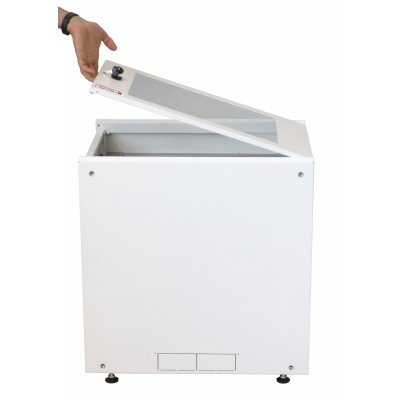 """19"""" Rack Cabinet Ideal for Photovoltaic Accumulators 8U P600mm White - Techly Professional - I-CASE EE-2008WH6-7"""