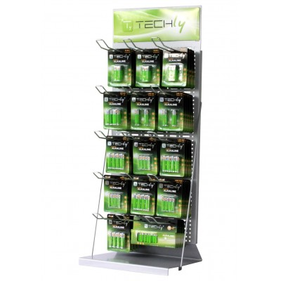 Desk Exhibitor Stand for Batteries 80cm - Techly - I-TLY-BATTERY2-1