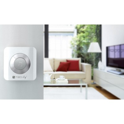 Wireless Doorbell up to 300m with Lithium Battery and Remote Control - Techly - I-BELL-RING02-7