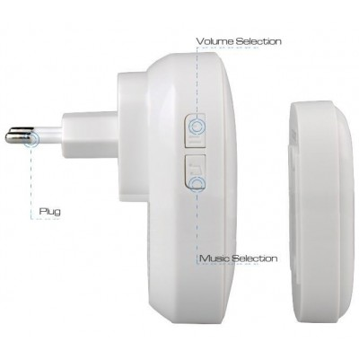 Wireless Doorbell with Remote Control up to 300 m - Techly - I-BELL-RING01-8