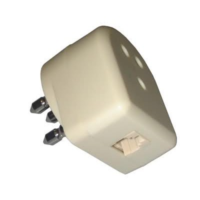 Modular Plug 6P4C Through Telephone Pole - Techly - I-EDL 80-1