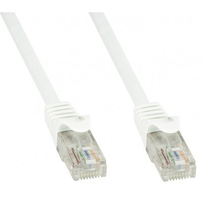 Network Patch Cable in CCA Cat.5E UTP 2m White - Techly Professional - ICOC CCA5U-020-WHT-2