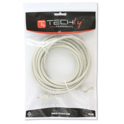 Network Patch Cable in CCA Cat.5E UTP 10m White - Techly Professional - ICOC CCA5U-100-WHT-1