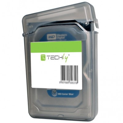 """Box Protection for 1 HDD 3.5"""" Transparent Black - Techly - ICA-HD 35BK-2"""