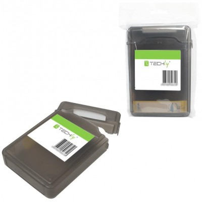 """Box Protection for 1 HDD 3.5"""" Transparent Black - Techly - ICA-HD 35BK-3"""