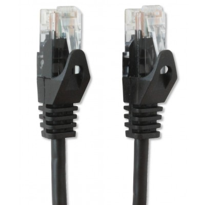 Network Patch Cable in CCA Cat.5E UTP 3m Black - Techly Professional - ICOC CCA5U-030-BKT-3