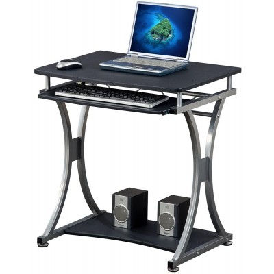 Compact Desk for PC with Removable Tray, Black Graphite - Techly - ICA-TB 328BK-1