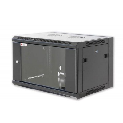 """Wall Rack Cabinet 19"""" D600 9 units to Assemble Black - Techly Professional - I-CASE FP-3009BKTY-1"""