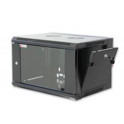 "Wall Rack Cabinet 19"" 9 units D450 to Assemble Black - Techly Professional - I-CASE FP-2009BKTY-3"