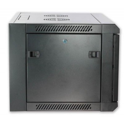 """Wall Rack Cabinet 19"""" D600 9 units to Assemble Black - Techly Professional - I-CASE FP-3009BKTY-4"""
