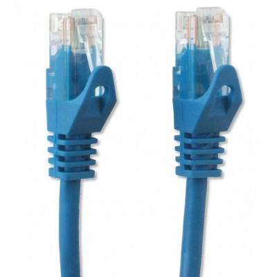 Network Patch Cable in CCA Cat.5E UTP 10m Blue - Techly Professional - ICOC CCA5U-100-BLT-3