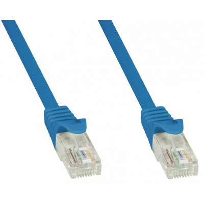 Network Patch Cable in CCA Cat.5E UTP 20m Blue - Techly Professional - ICOC CCA5U-200-BLT-2