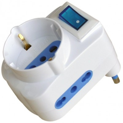 Adapter with 16A Plug - Techly - IPW-TRP-316W-0