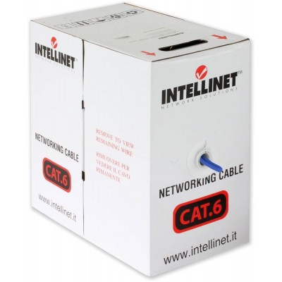 U/UTP Roll Cable Cat.6 CCA 305m Solid Blue - Techly Professional - ITP6-CCA-305-BL-1