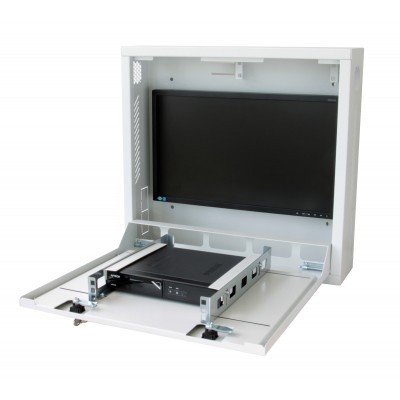 Security box for DVR and video surveillance systems White - Techly Professional - ICRLIM08W-1