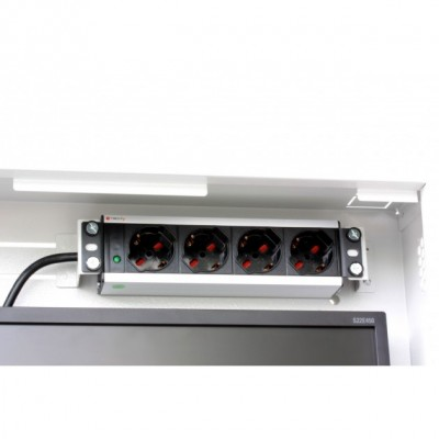 Security box for DVR and video surveillance systems White with Anti-intrusion - Techly Professional - ICRLIM08AI-14