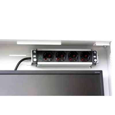 Security box for DVR and video surveillance systems White with Anti-intrusion - Techly Professional - ICRLIM08AI-10