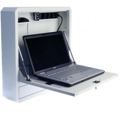 Notebook Safety Box and Accessories for LIM Depth 150 White - Techly Professional - ICRLIM11W2-1